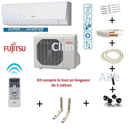 Climatiseur Atlantic Fujitsu ASYG 12 LLCC- 4Kw kit 3 mètres