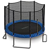 Outdoor Trampoline with Enclosure 12FT - Full Size Backyard Trampoline with Safety Net - Enclosed...