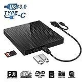 Lecteur de CD-ROM Externe, Type C et USB 3.0 Lecteur de graveur de DVD-RW...