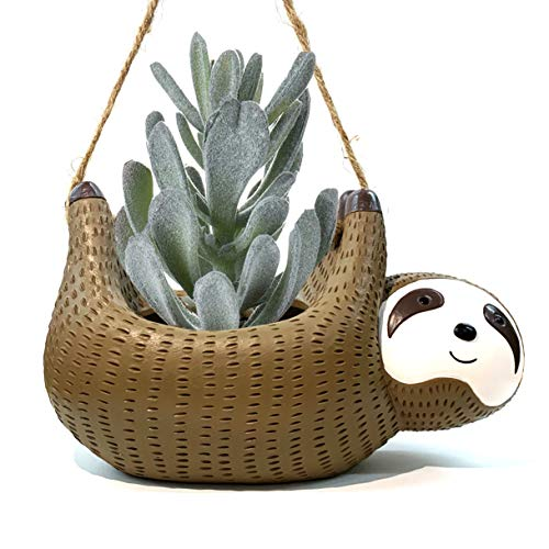 Cute Handmade Sloth Gift Succulent Planters,Sloth Hanging Planters...