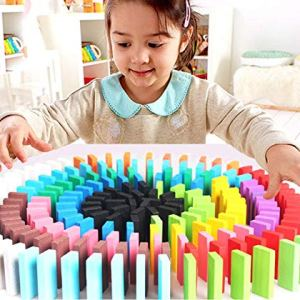 Wooden domino building blocks for  kids | Educational building blocks toys for  kids