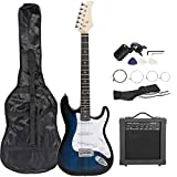 Smartxchoices 39' Electric Guitar Full Size Blue Beginner Guitar...