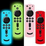 4 Pack Remote Cover for Fire TV Stick 4K, Silicone Remote case Compatible with Fire TV Cube/Fire...