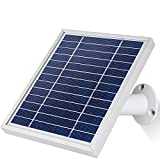 iTODOS Solar Panel Works for Arlo Pro 2 Camera, 11.8Ft Outdoor Power Charging Cable and Adjustable Mount(Silver)