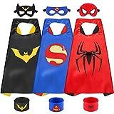 Sinoeem Capa de Superhéroe para Niños - 3 Capa y 3 Máscaras y 3 Slap Pulseras...