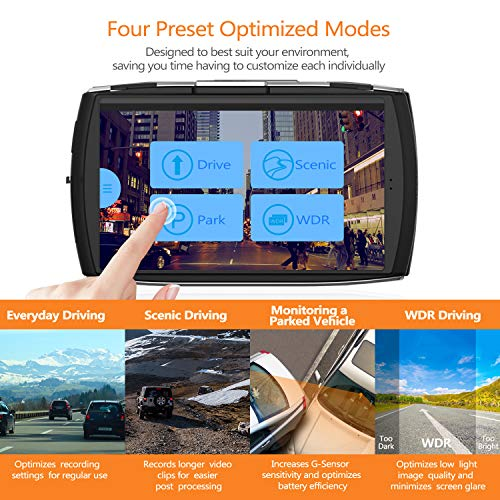 Product Image 6: Z-Edge Dash Cam Front and Rear 4.0″ Touch Screen Dual Dash Cam FHD 1080P with Night Mode, 32GB Card Included,155 Degree Wide Angle, WDR, G-Sensor, Loop Recording, Support 256GB Max