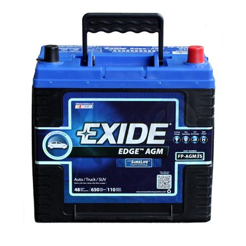Exide Edge FP-AGM35 Flat Plate Battery