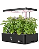 iDOO 12Pods Hydroponics Growing System, Indoor Herb Garden with Grow Light, Plants Germination Kit Built-in Fan, Automatic Timer, Up to 11.3'