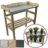 DILUMA Table de rempotage/Jardinage 82 x 78 x 38 cm - Table de Jardin pour Pots...