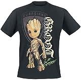 Les Gardiens De La Galaxie Les Gardiens de la Galaxie 2 - Groot Shield Homme T-Shirt Manches Courtes Noir XL