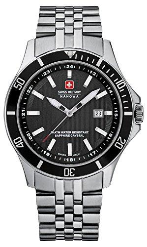 Swiss Military Hanowa Herren-Armbanduhr XL Analog Quarz Edelstahl 06-5161.7.04.007