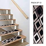 Ahmi Tapis pour marche d'escaliers, ensemble de 13 tapis dessous en PVC...