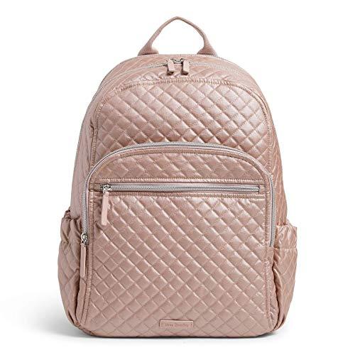 Vera Bradley Women's Signature Cotton Campus Backpack, Rose Quartz, One Size