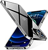 WFKYE iPhone 12/12Pro ケース クリア 耐衝撃 透明 ソフト TPU 耐久 シリコン アイフォンXS ケ……