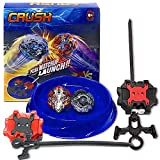 Crush Battling Burst Game Tops Starter Set (1 Small Arena + 2 Launchers Included + 2 Spin Burst Tops) B-85 Killer Deathscyther / Doomscizor & Xcalibur / Xcalius Burst B-120