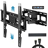 Everstone TV Wall Mount for Most 32'-65' TVs Heavy Duty Dual Arm Articulating Full Motion Tilt...