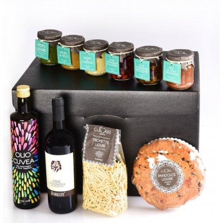 Cesto Natalizio Liguria Golosa: cesto natalizio regalo con Prodotti Tipici Liguri Gourmet della nostra azienda agricola