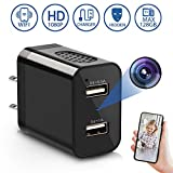 Spy Camera Wireless Hidden, 2020 Newest Version USB Wall Charger Secret Hidden Spy WiFi Camera Nanny Cam with Motion Detection Remote Viewing for Home by LUOHE - Black
