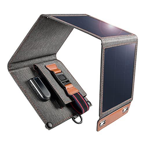 Chargeur solaire, Chargeur solaire USB portable et imperméable, 4 panneaux...