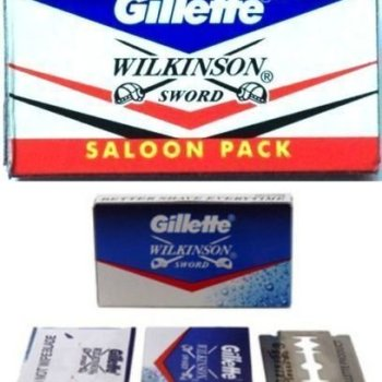 100 pc GILLETTE WILKINSON SWORD RAZOR BLADES double edge safety razor blade