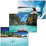 GREAT ART Lot de 3 Affiches XXL Motifs Enfants – Set de Voyage...
