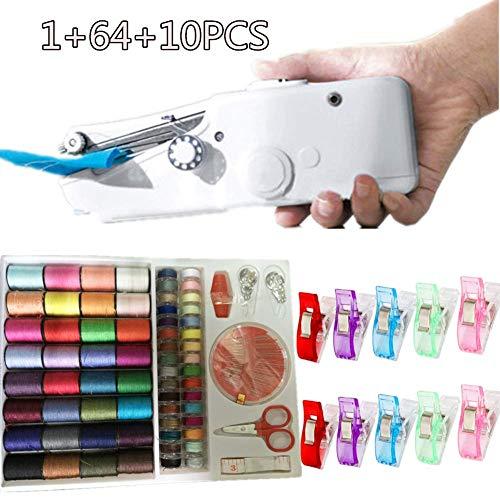 Mini Macchina da Cucire Portatile da Cucito Incluso Handheld Strumento di Cucitura, per Vestiti...