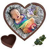 Yuehuam Newborn Photography Prop Heart-Shaped Wooden Bowl Baby Infant Photo Prop Wooden Bed Posing Baby Photography Props Picture Photo Shoot Studio Posing for Boy Girl
