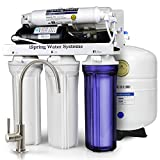 iSpring RCC7P Boosted Performance Under Sink 5-Stage Reverse Osmosis Drinking Filtration System with Pump and Ultimate Water Softener, WQA Gold Seal Certified