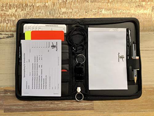 My Referee Schiedsrichterset Original Fußball inkl. Spielnotizkarten, Kugelschreiber, Pfeife UVM. | Schiedsrichter-Set | Schiri