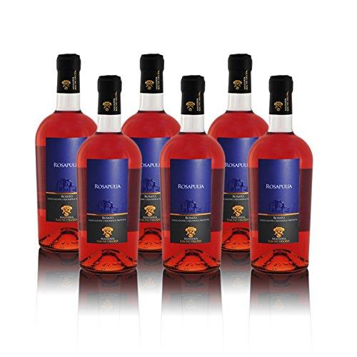 Masseria Barone Melodia Vino Rosato Ros'Rosapulia' Malvasia Nera & Negroamaro IGP Salento 2017 - Box da 6 Bottiglie da 75 cl