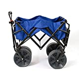 MacSports Collapsible Heavy Duty All Terrain Beach Utility Wagon with Table