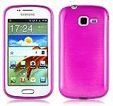 Cadorabo Coque pour Samsung Galaxy Trend en Rose Vif - Housse Protection Souple...