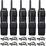 Retevis RT28 Walkie Talkies for Adults,Two Way Radios Rechargeable,Military Grade Portable,Hands Free 2 Way Radio with Earpiece,for Worker School Security Restaurant(10 Pack)