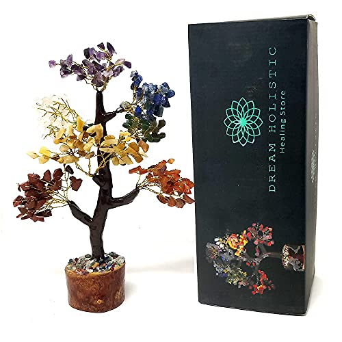DREAM HOLISTIC Crystal Tree, 7 Chakra Tree Stones Décor...