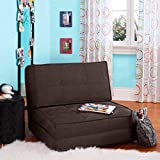 Your Zone - Flip Chair Convertible Sleeper Dorm Bed Couch Lounger Sofa...