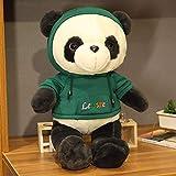ZHANGWENJIE Lindo Panda con suéter, Juguetes de Peluche, Pasatiempos, Animales de Dibujos Animados, muñecos de Peluche para niños, bebés, Regalo de cumpleaños, 50 cm A