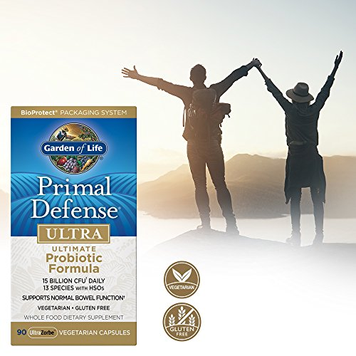 Garden of Life Whole Food Probiotic Supplement - Primal Defense Ultra Ultimate Probiotic Dietary Supplement for Digestive and Gut Health, 90 Vegetarian Capsules 2