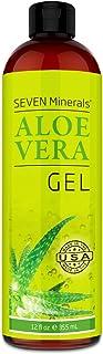 Organic Aloe Vera Gel with 100% Pure Aloe From Freshly Cut Aloe Plant, Not Powder –..