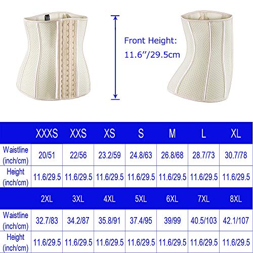 ECOWALSON Waist Trainer for Women Corset Cinher Body Shaper with Steel Bones and Extender 6