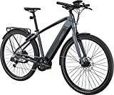 IZIP E3 Protour with COBI 700C Class 3 Electric Commuter Road Bike with 500W Currie Electro-Drive Centerdrive Motor and 48V, 417Wh Lithium Battery, Gray, 19'/Large
