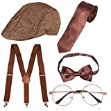 Haichen des années 1920 Hommes Gatsby Gangster Costume Accessoires Set -...