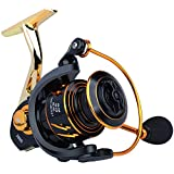 Sougayilang Spinning Reel, Light Smooth 5.0:1High Speed Gear Ratio, CNC Machined & Carbon Matrix Washers Spool,13+1 BB Saltwater Corrosion protectionTG-3000