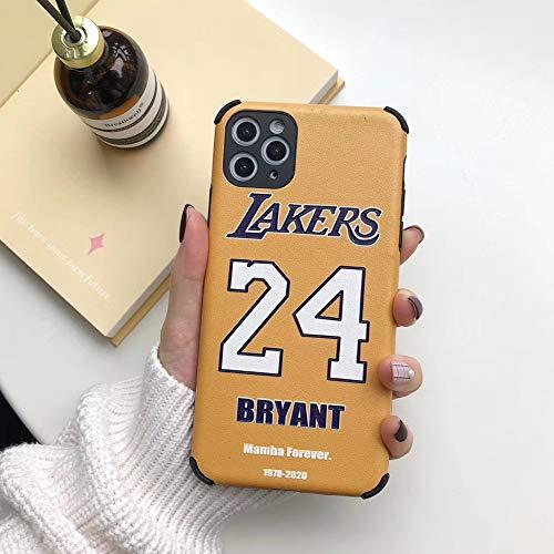 Custodia Kobe Bryant per Iphone 11/11 Pro / 11 Pro Max, Custodia protettiva in seta Black Mamba,...