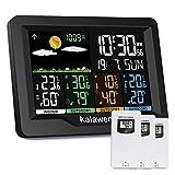 Kalawen Weather Station Wireless Indoor Outdoor Thermometer Multiple Sensors, Color Display Digital...