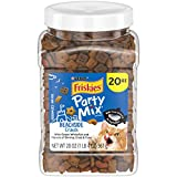 Purina Friskies Party Mix, Beachside Crunch, Shrimp, Crab and Tuna Flavors, 20-Ounce Canister, Pack of 1