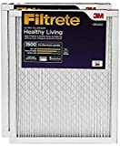 Filtrete Healthy Living Ultra Allergen Reduction AC Furnace Air Filter, MPR 1500, 24 x 24 x 1-Inches, 2-Pack