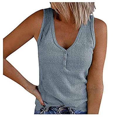 【Cotton Material】95% cotton and 5% spandex, made of high quality knit fabric, which is lightweight, stretchable and breathable, makes you feel skin-friendly, soft and comfy. 【Variety colors】Solid tank tops and color block blouse. You have many choice...