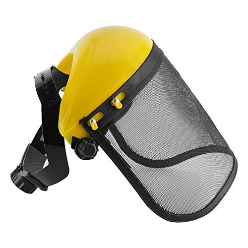 Visiera a rete regolabile maschera protettiva per decespugliatore tagliaerba