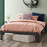 ZINUS Mia Metal Platform Bed Frame / Wood Slat Support / No Box Spring Needed / Easy Assembly, Black, Full