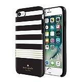 Kate Spade New York iPhone 7 Black White Gold Foil Stripe Phone Case [並行輸入品]